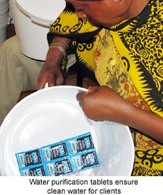 Water Purification tablets ensure clean water