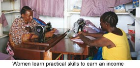Women learn practical skills to earn an income