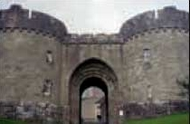 The great gates leading to the Monastery at Glenstal Abbey, Co. Limerick
